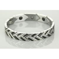 Fashion stainless steel bracelets with magnets and germanium Manufactures