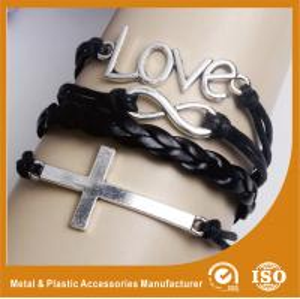 Zinc Alloy Metal Ladies Leather Bracelets Leather Buckle Bracelet Manufactures