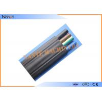 China Mixed PVC Flat Electric Cable Copper Strand Flat Power Cable Black Or Grey on sale