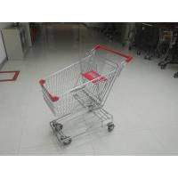Buy cheap Portable 80L Steel Wire Shopping Trolley For Medium Supermarket from wholesalers