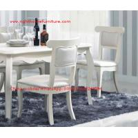 Quality Ivory Neoclassical Dining Room Furniture collection by rubber wood with Glass or for sale