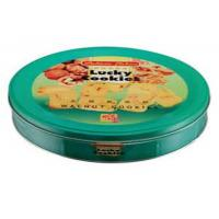 Metal Round Biscuit Cookie Metal Tin Box For Food And Gift Packaging Manufactures