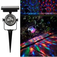 Solar LED Garden Path Projection Lights,Rotatable Colorful Solar Powered Garden Stake Lights Manufactures