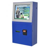 China Tel / Transport Card Recharging Multimedia Wifi Self Payment Kiosk with Card Printer and Coin Hopper on sale