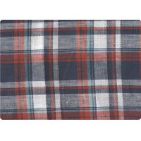 "Professional Decorative Plaid Linen Upholstery Fabric 57"" / 58"" Width Manufactures"