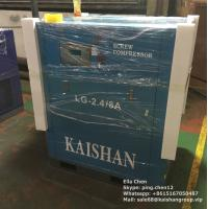 85 cfm / 116 Psi 20 Hp Screw Air Compressor Kaishan Motor Driven Stationary LG Series Manufactures