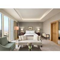 Luxuriousness Hotel Bedroom Suite Furniture With Table / Chair Standard Size Manufactures