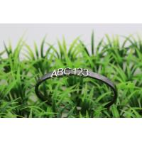 Rhodium Plated Ceramic Silver Bangle With Latter And Number On , CSB0608 Manufactures