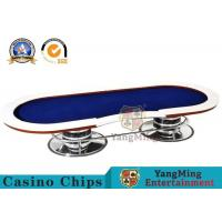 10 Player Casino Poker Table With Red Table Layout / Texas Holdem Poker Table Manufactures