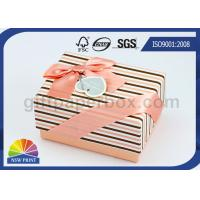 Fashion Reusable Hard Cover Pink Lovely Paper Box with Dividers Inside , Wedding Gift Boxes Manufactures
