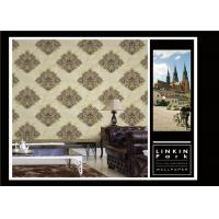 Quality PVC Classic Vintage Style Floral Wallpaper , Vintage Living Room Wallpaper Non for sale