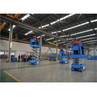 One Man  Small Hydraulic Scissor Lift , Hydraulic Material Lift 8M High Safety Manufactures