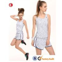 White Girls Tennis Clothing Denim Jumpsuit Tennis Wear Tops and Shorts Manufactures