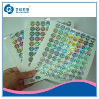 Custom Made Void Laser Printing Labels On Sheets , Company Logo Stickers Manufactures