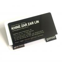 Clear Hard PVC Plastic Business Cards Printing Standard Surface 85.5x54x0.76mm Manufactures