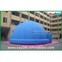 China Blue Inflatable Planetarium Astronomy Teaching Tent 3.2M For 360-degree Watching on sale