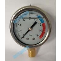 2 Inch Crimp isolate hydraulic oil pressure gauge , pipe / tank pressure gauge Manufactures