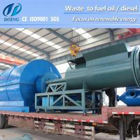 Recycle plastic to oil Machine and Tyre Pyrolysis Oil plant With 30T Weight Manufactures