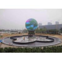 Outdoor Full Color LED Sphere Display , Customized Size LED Ball Screen Manufactures