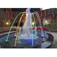 Outdoor Laminar Jet Fountain Color Changing LED Light Jumping Jets Manufactures