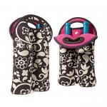 Portable 2 Pack Red Wine Bottle Cooler Sleeve , Neoprene Bulk Wine Bottle Cooler Bag Manufactures