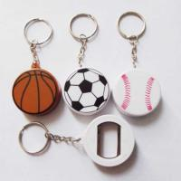 Personalized Cheap Promotion Plastic Golf Ball Basketball Football Sport Keychain Bottle Opener Manufactures