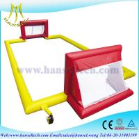 China Hansel inflatable soccer filed inflatable soccer area inflatable soccer ball playground on sale