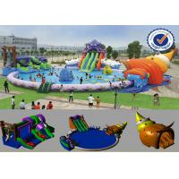 PVC Inflatable 30M Pool Inflatable Water Parks Huge Slide For Summer Manufactures