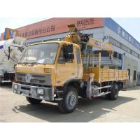 HOT SALE! 190hp euro3 right hand drive 8 ton dongfeng boom crane truck for sale, 8tons telescopic truck with crane Manufactures