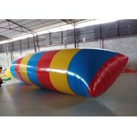 Interesting Inflatable Water Toys , Inflatable Water Blob Pillow For Adults Manufactures