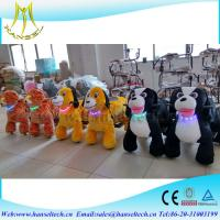 Hansel amusement park car ride toy rider coin operated stuffed animals that walk motorcycle child electric walking toys Manufactures