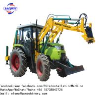 Crane Mounted Truck Mounted Post Hole Digger / Pile Tractor Mounted Hole Digger Manufactures