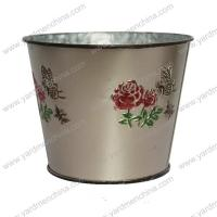 Painting finish metal flower container for home&garden Manufactures