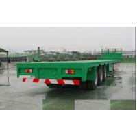 13m Steel Flatbed Container Trailer with lock for steel pump or coontainer transportation Manufactures
