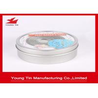 YT1192 Candy Gift Tins With Custom Printing Lids , Tinplated Round Sweets Tin Can Manufactures
