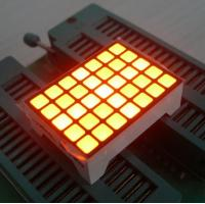 Yellow 14 Pins Square LED Matrix Screen , 5x7 LED Matrix Waterproof Manufactures