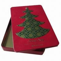 China Rectangular tin box for packing gift and crafts on sale