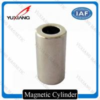 China 1/4*1 Inch Cylinder N42 Neodymium Magnet Nickel Plated 5000 Gauss For DC Motor on sale