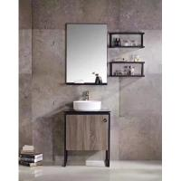 Small Plywood Bathroom Vanity With Built In Sink Stainless Steel Legs Single Basin Manufactures