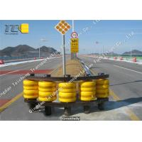 Accident Car Highway Roller Barrier System Anti Collision Yellow / Red Color Manufactures