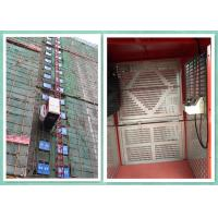 Single / Twin Cage Building Construction Site Hoist , Man And Material Elevator Manufactures