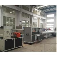 High Output PVC Plastic Extrusion Line , pvc Twin pipe Extrusion Production Line Manufactures