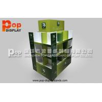 4 Sides Cardboard Pallet Display Stand Heavy Duty With 3 Tiers Manufactures