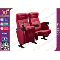 Foldable Armrest Fabric Heavy Duty Cinema Theater Chairs Push Back Seatback Manufactures