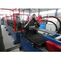 Automatic roller Door Frame Roll Forming Machine , sheet profile cold roll forming machine Manufactures