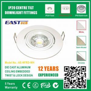 Aluminium GU10 G5.3 Centre Tilt Twist Lock Downlight Gimble - White Color Manufactures