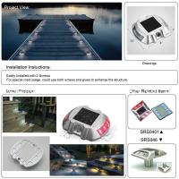 Solar Garden Pathway Step Deck Light Marine Dock Light CE Apprived IP68 Waterproof