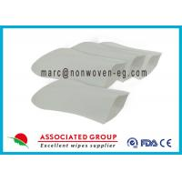 China Soft Hospital Patient Wet Wash Glove Embowed Bio Degradable Smooth on sale