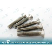 Titanium Fastener DIN 963 GR2 unalloy titanium slotted flat head machine screw Manufactures
