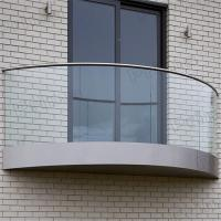 Buy cheap Exterior handrail aluminum u channel glass balustrade system from wholesalers